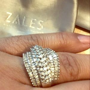 2ct 7 rows baguette from zales ring